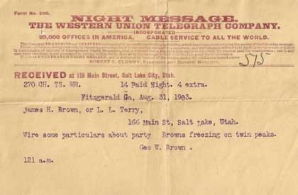 Goerge Brown Telegram
