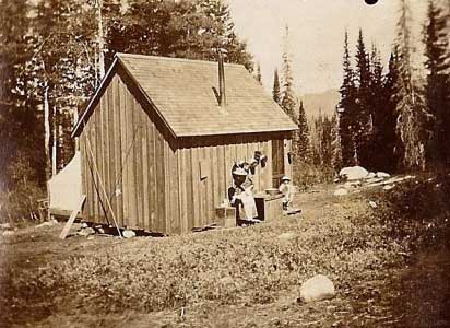 Tent and Framed Cabin